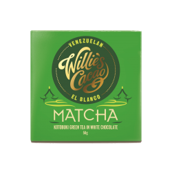Willie's Cacao Matcha Kotobuki Green Tea in 39% White Chocolate