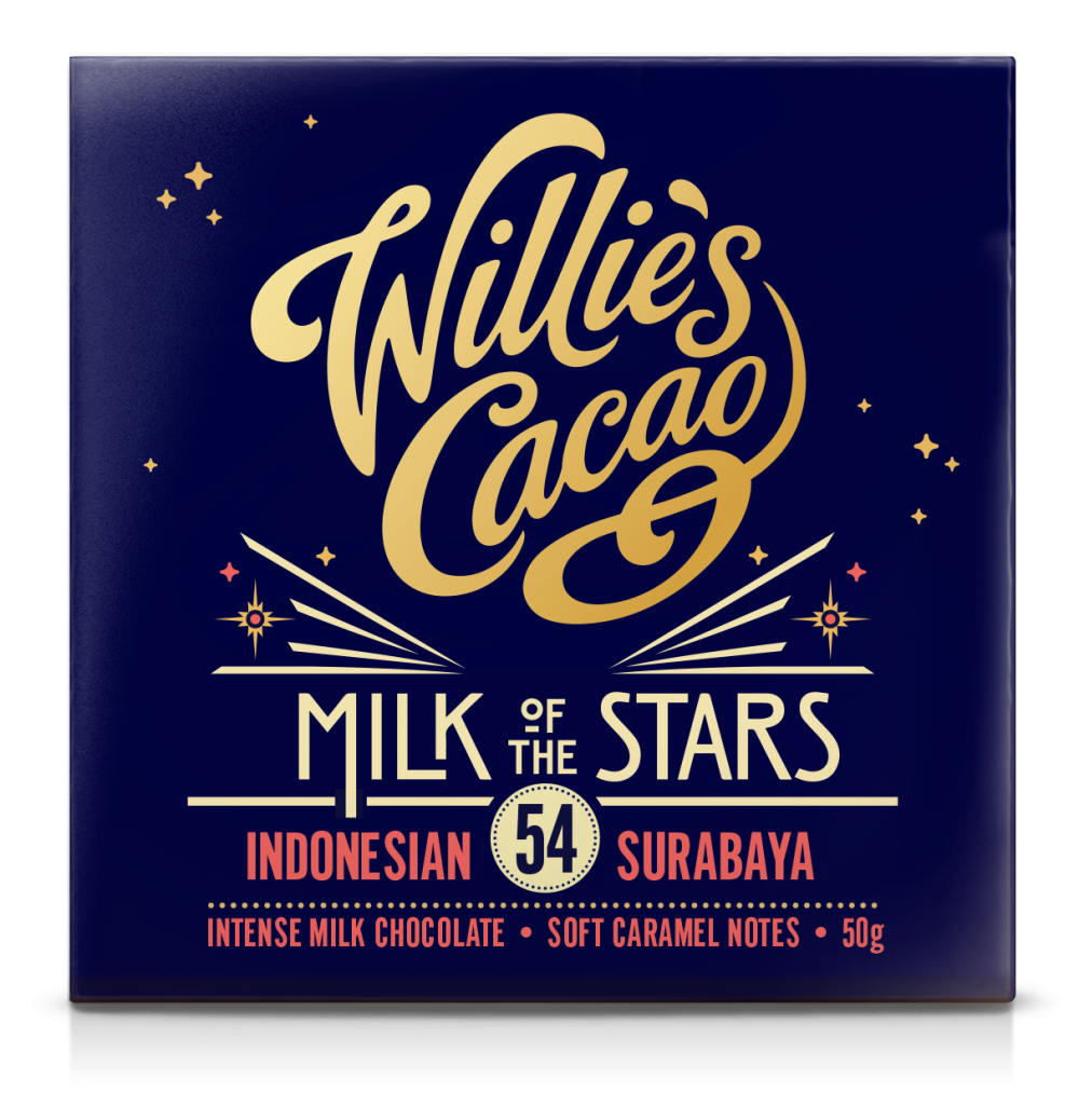 Willie's Cacao Milk of the Stars 54% Milk Chocolate Bar