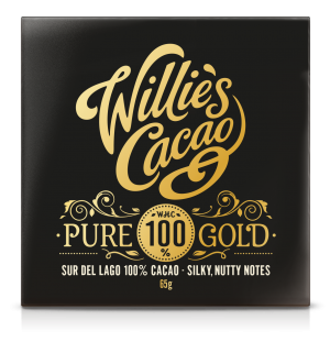 Willie's Cacao Pure Gold Sur Del Lago 100% Cacao Bar