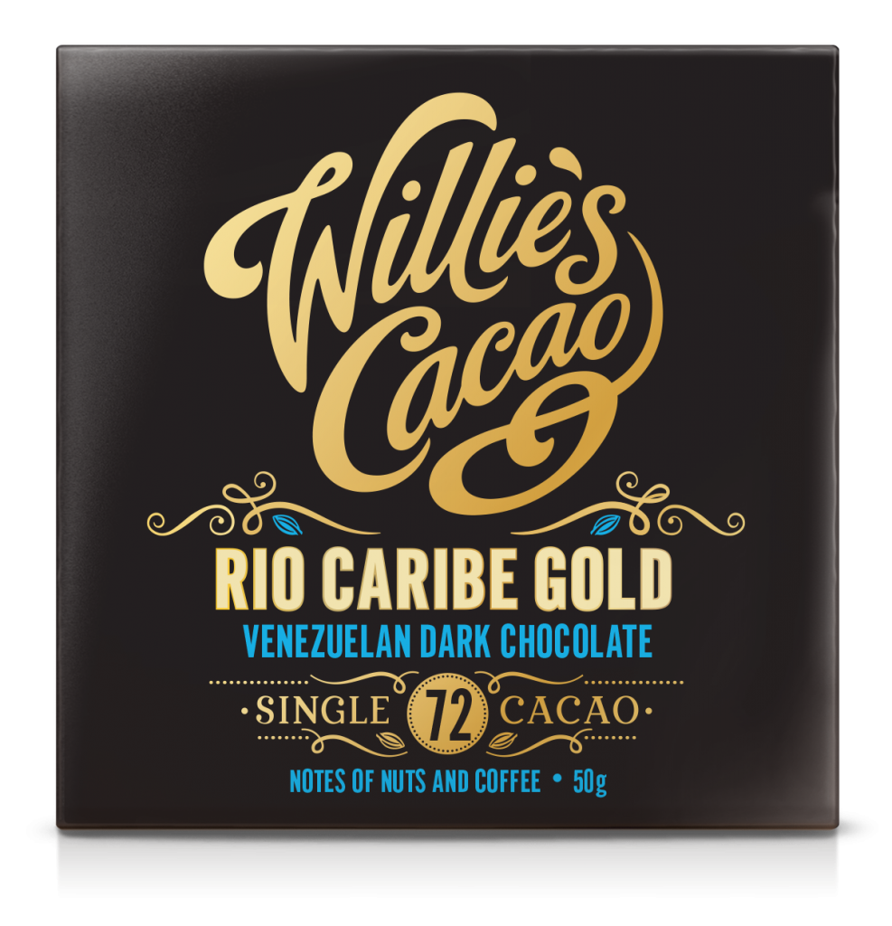 Willie's Cacao Rio Caribe Gold 72% Dark Chocolate Bar