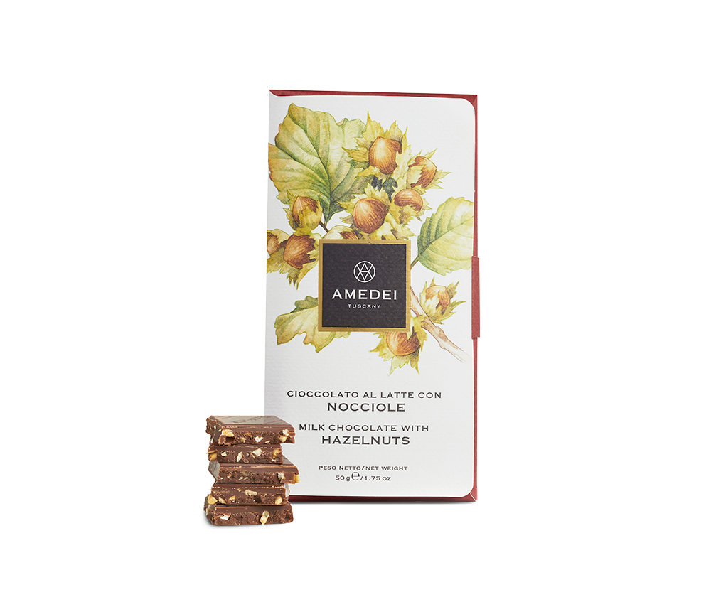 Amedei Nocciole Milk Chocolate with Hazelnuts