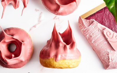 Callebaut Donuts with Ruby Chocolate Frosting
