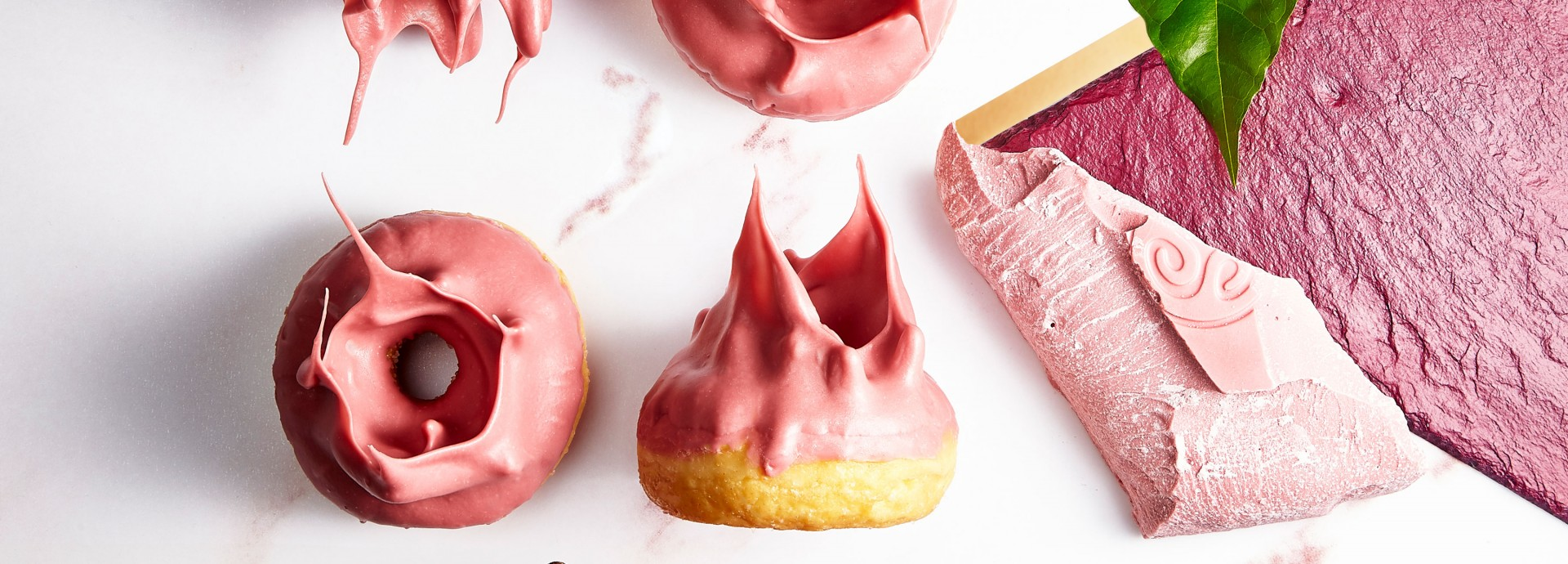 Callebaut Donuts with Ruby Frosting