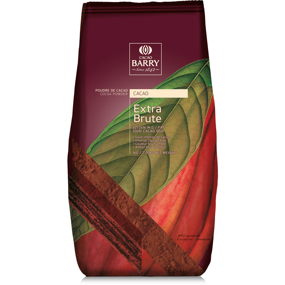 Cacao Barry Extra Brute 100% Cocoa Powder New