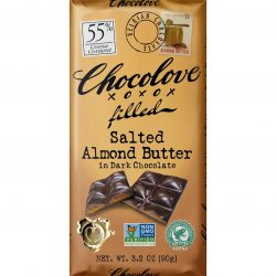 Chocolove Salted Almond Butter in 55% Dark Chocolate Bar