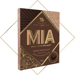 MIA 75% Dark Chocolate Bar