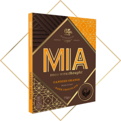 MIA Candied Orange 65% Dark Chocolate Bar