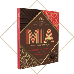 MIA Cranberry & Hazelnut 65% Dark Chocolate Bar