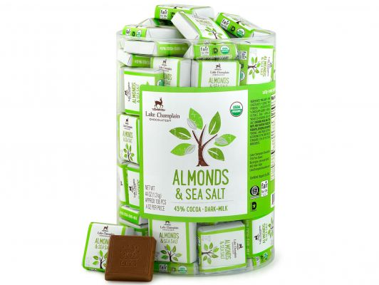 Lake Champlain Almonds & Sea Salt 43% Milk Chocolate Squares
