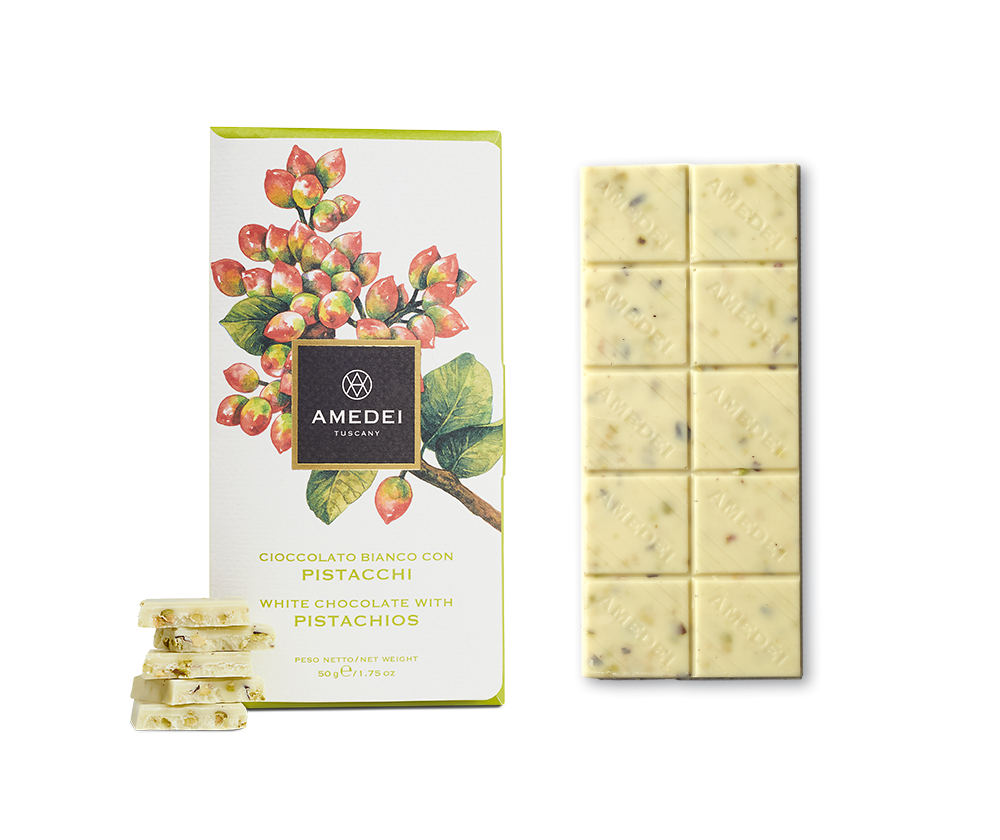 Amedei White Chocolate Bar with Pistachios 2