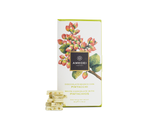 Amedei White Chocolate Bar with Pistachios