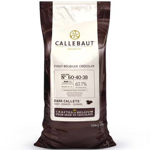 Callebaut 60-40-38 60.1% Dark Chocolate Callets