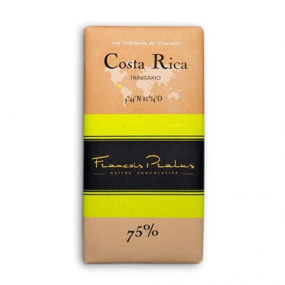 François Pralus Costa Rica 75% Dark Chocolate Bar