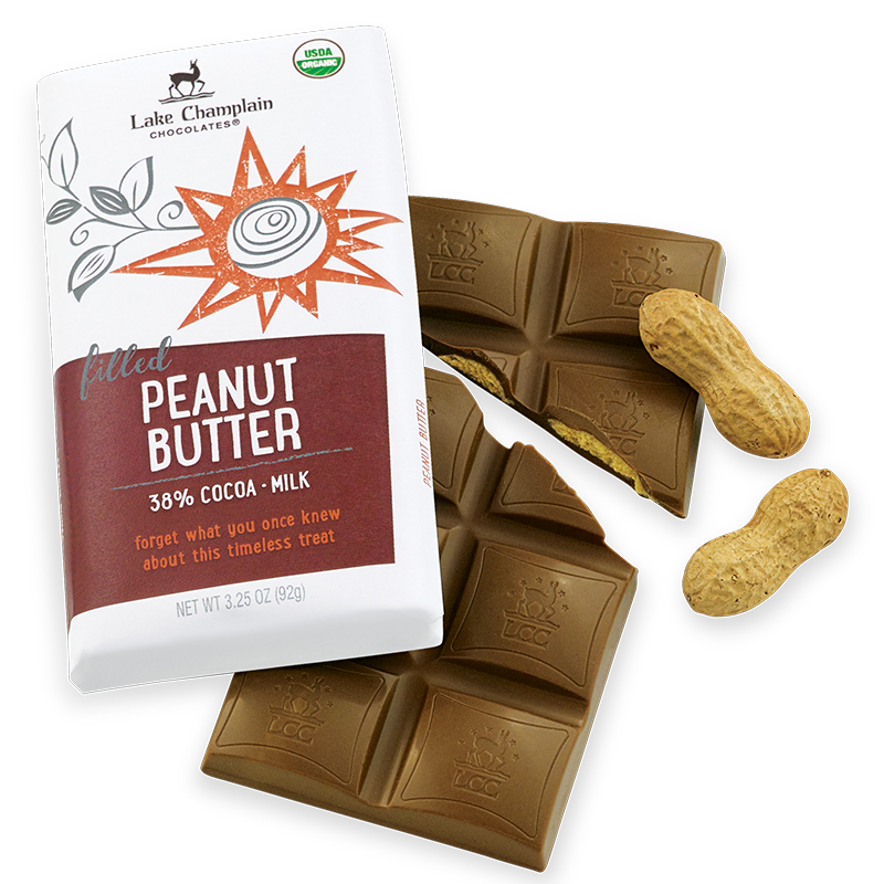 Lake Champlain Peanut Butter in 38% Milk Chocolate