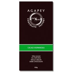 Agapey 70% Cacao Hispaniola Dark Chocolate Bar