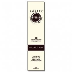 Agapey 70% Coconut Rum Dark Chocolate Bar