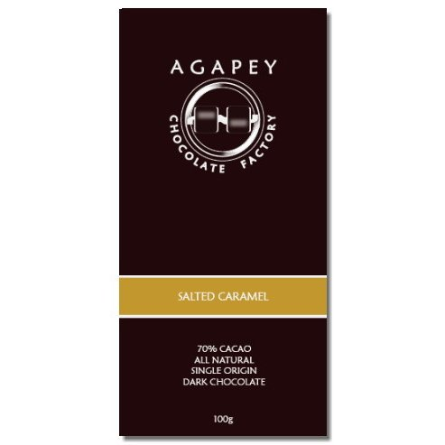 Agapey 70% Salted Caramel Dark Chocolate Bar