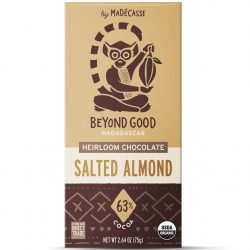 Beyond Good 63% Dark Chocolate Bar with Salted Almonds-min