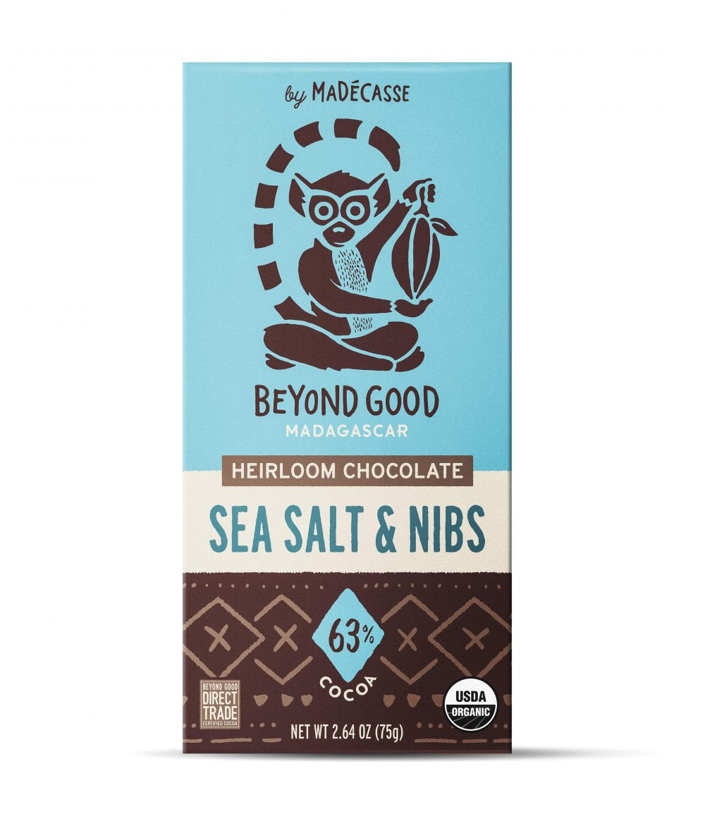 Beyond Good 63% Dark Chocolate Bar with Sea Salt & Nibs-min