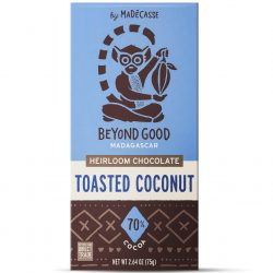 Beyond Good 70% Dark Chocolate Bar with Toasted Coconut-min