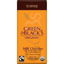 Green & Black's 34% Toffee Milk Chocolate Bar