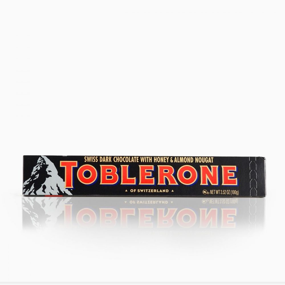 Toblerone Honey & Almond Nougat Dark Chocolate Bar