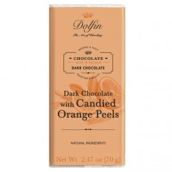 Dolfin 60% Dark Chocolate Bar with Crystallized Orange Peel