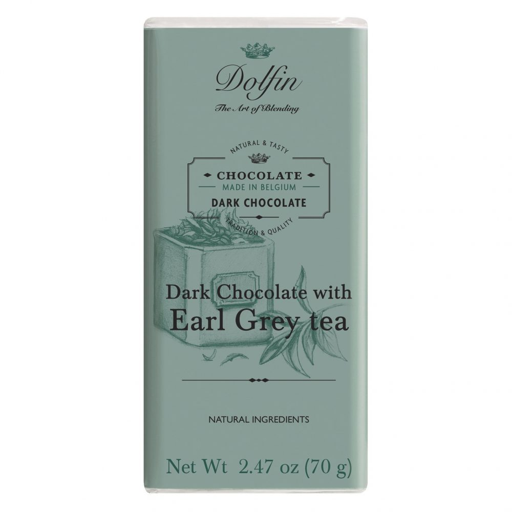 Dolfin 60% Dark Chocolate Bar with Earl Grey Tea