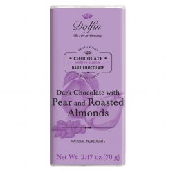Dolfin 60% Dark Chocolate Bar with Pear & Roasted Almonds