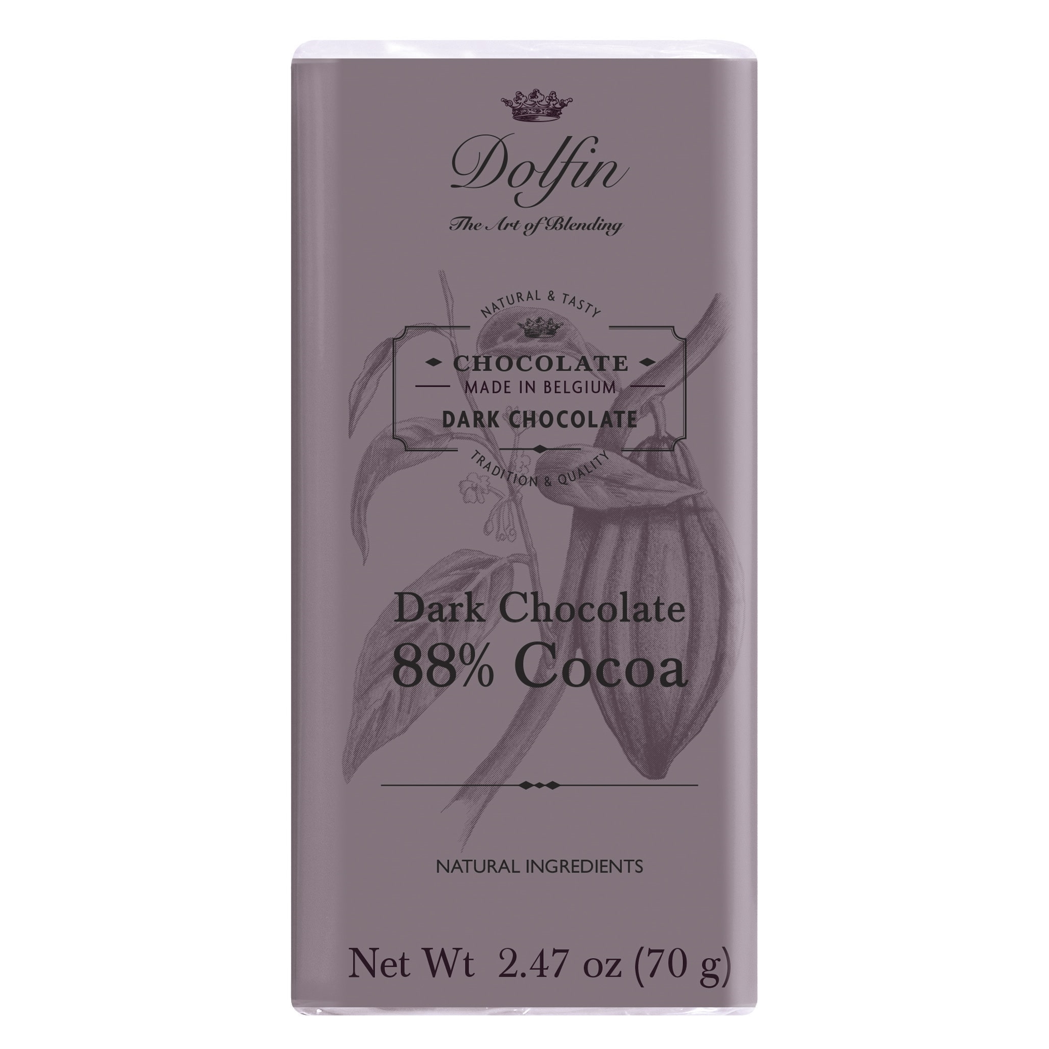 Dolfin 88% Dark Chocolate Bar