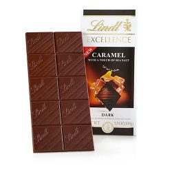 Lindt Excellence Caramel with a Touch of Sea Salt Dark Chocolate Bar