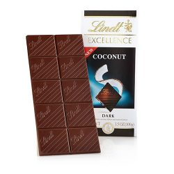 Lindt Excellence Coconut Dark Chocolate Bar