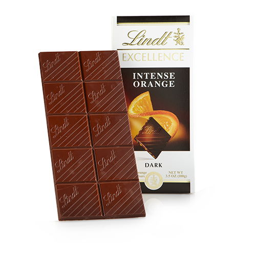 Lindt Excellence Orange Dark Chocolate Bar