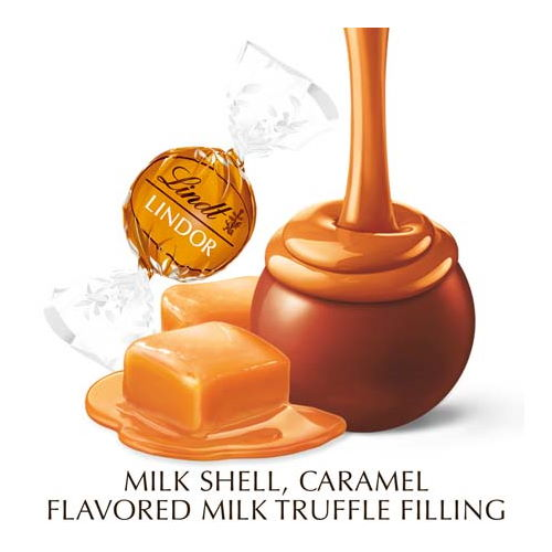 Lindt LINDOR Caramel Milk Chocolate Truffle Box