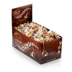Lindt LINDOR Milk Chocolate Hazelnut Truffle Box - 120-Count