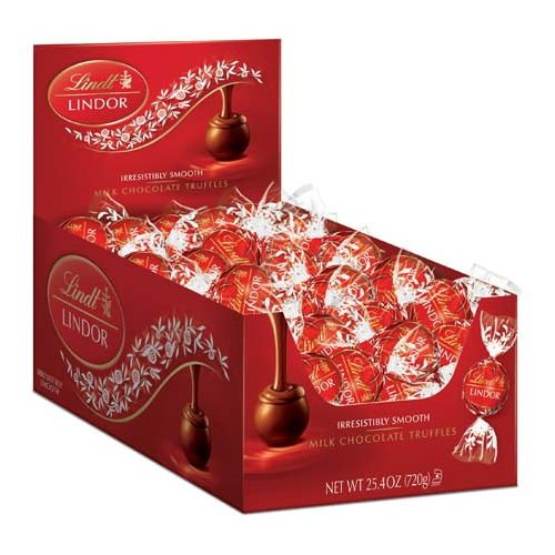 Lindt LINDOR Milk Chocolate Truffle Box - 60-Count