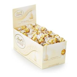 Lindt LINDOR White Chocolate Truffle Box - 120-Count