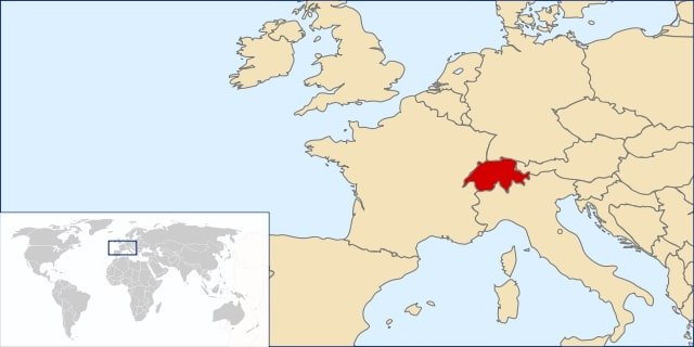 Switzerland on Map