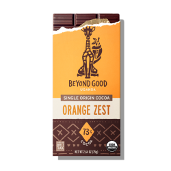 Beyond Good by Madécasse Uganda 73% Dark Chocolate Bar with Orange Zest