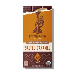 Beyond Good by Madécasse Uganda 73% Dark Chocolate Bar with Salted Caramel