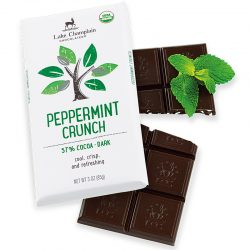 Lake Champlain 57% Dark Chocolate Bar with Peppermint Crunch