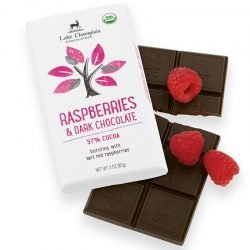 Lake Champlain 57% Dark Chocolate Bar with Raspberries
