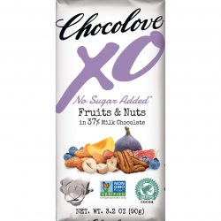 Chocolove XO No Sugar Added 37% Milk Chocolate Bar with Fruits & Nuts