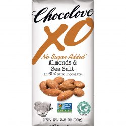 Chocolove XO No Sugar Added 60% Dark Chocolate Bar with Almonds & Sea Salt