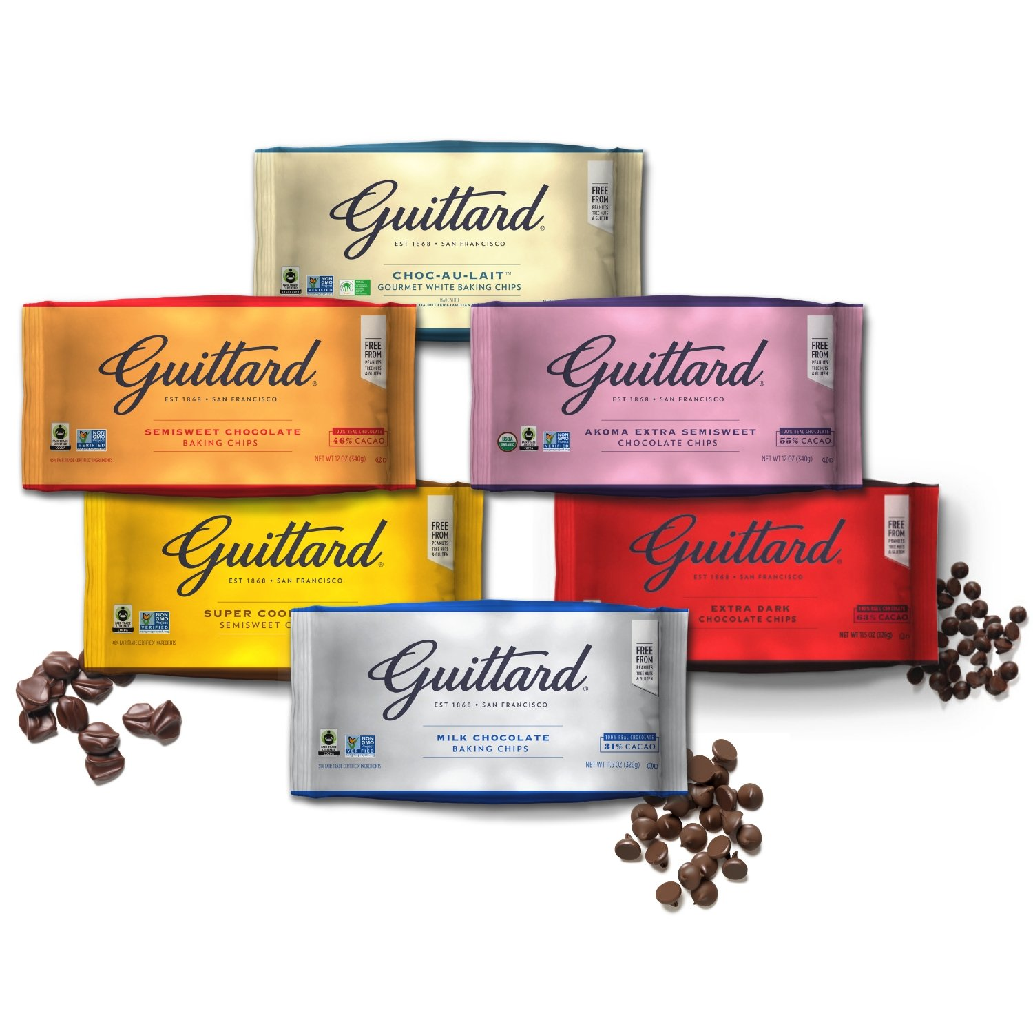 Guittard Baking Chips Family
