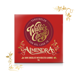 Willie's Cacao Almendra 70% Dark Chocolate Bar with Roasted Almonds
