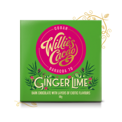 Willie's Cacao Ginger Lime 70% Dark Chocolate Bar