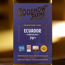 Goodnow Farms Esmeraldas Ecuador 70% Dark Chocolate Bar