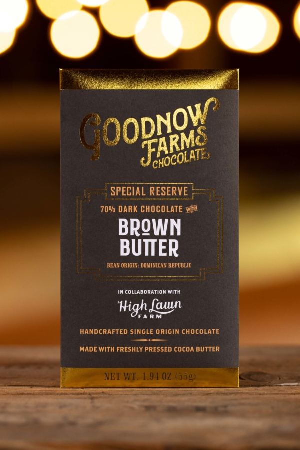 Goodnow Farms Special Reserve Dominican Republic 70% Dark Chocolate Bar with Brown Butter