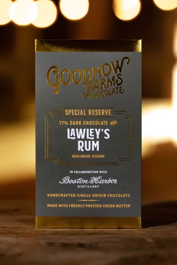 Goodnow Farms Special Reserve Ecuador 77% Dark Chocolate Bar with Lawley's Rum